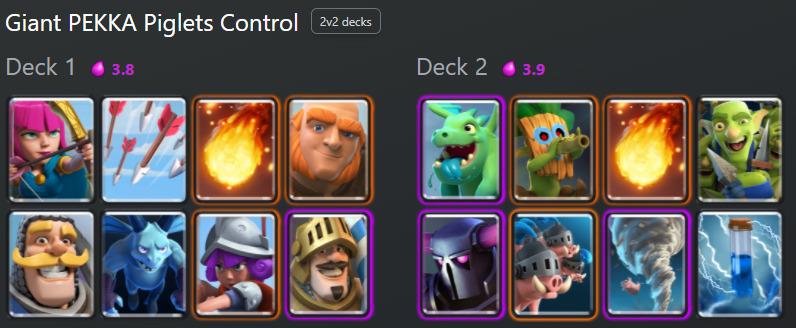 Clash Royale Deck: Giant PEKKA Piglets Control